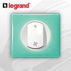 Interrupteur VMC complet Legrand Celiane 50's Turquoise