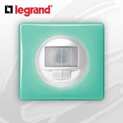 Interrupteur automatique complet Ecodétecteur Legrand Celiane 50's Turquoise
