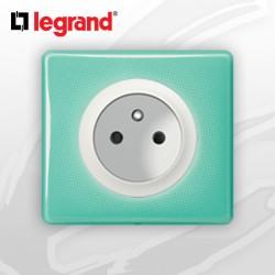 Prise 2P+T complete Legrand Celiane 50's Turquoise