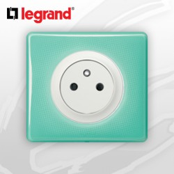 Prise 2P+T Surface complete Legrand Celiane 50's Turquoise