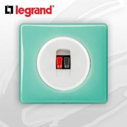 Prise HP simple complete Legrand Celiane 50's Turquoise