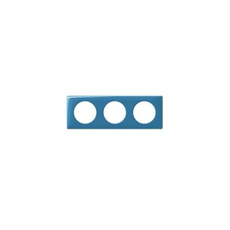 Plaque cyan 3 postes Legrand celiane entraxe 71mm
