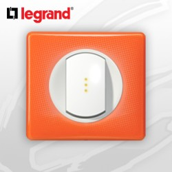 Poussoir Lumineux complet Legrand Celiane 70's Orange (doigt large)