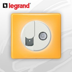 Prise RJ45 Cat 6 + TV complete Legrand Celiane Today Jaune