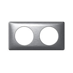 Plaque aluminium 2 postes Legrand celiane entraxe 71mm