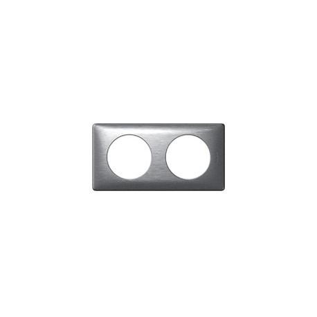 Plaque aluminium 2 postes Legrand celiane entraxe 71mm