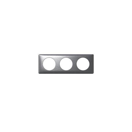 Plaque aluminium 3 postes Legrand celiane entraxe 71mm