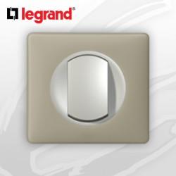 interrupteur Va-et-vient complet Legrand Celiane Argile Poudré (doigt large)