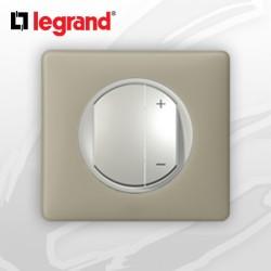 Interrupteur Variateur complet Legrand Celiane Argile Poudré (400W)
