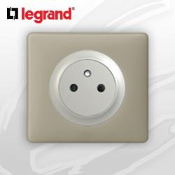 Prise 2P+T Surface complete Legrand Celiane Argile Poudré