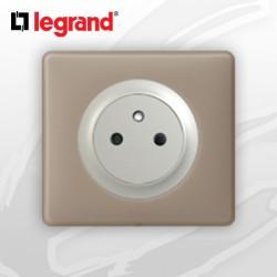 Prise 2P+T Surface complete Legrand Celiane Grès Poudré