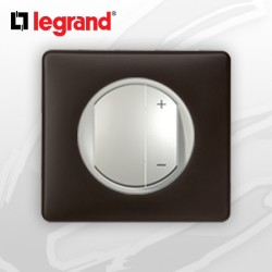Interrupteur Variateur complet Legrand Celiane Basalte Poudré (400W)
