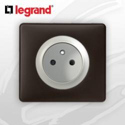 Prise 2P+T complete Legrand Celiane Basalte Poudré