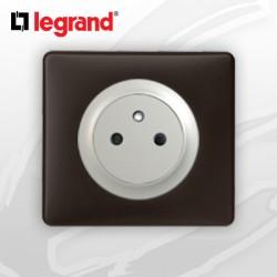 Prise 2P+T Surface complete Legrand Celiane Basalte Poudré
