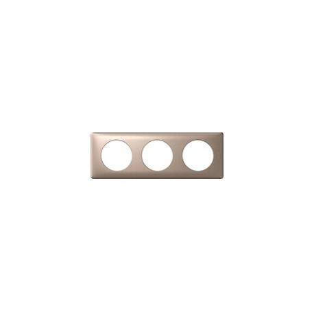 Plaque mica 3 postes Legrand celiane entraxe 71mm