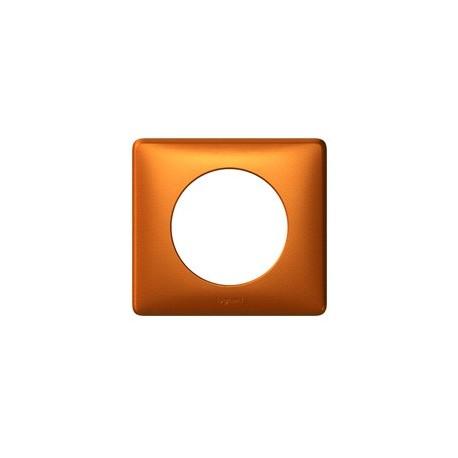 Plaque cuivre Legrand celiane 1 poste avec support a vis