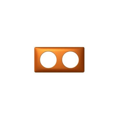 Plaque cuivre 2 postes Legrand celiane entraxe 71mm