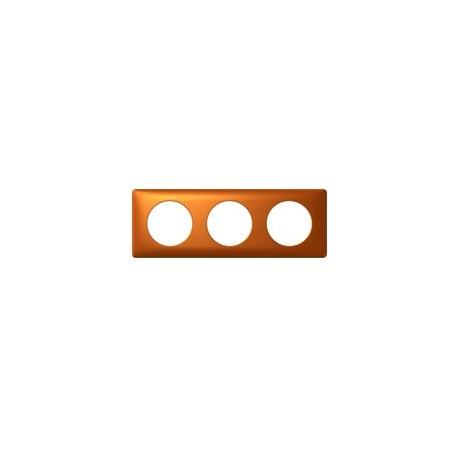 Plaque cuivre 3 postes Legrand celiane entraxe 71mm