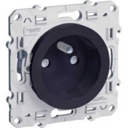 prise de courant 2P+T Anthracite, à vis, connexion rapide, spéciale rénovation Schneider Odace