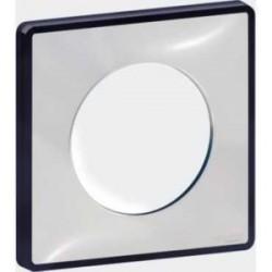 Plaque de finition Odace You Transparent, support Anthracite 1 poste Schneider