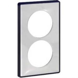 Plaque de finition Odace You Transparent, support Anthracite 2 postes entraxe 57mm Schneider
