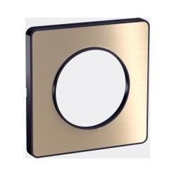 Plaque Odace Touch, Bronze brossé avec liseré Anthracite 1 poste Schneider