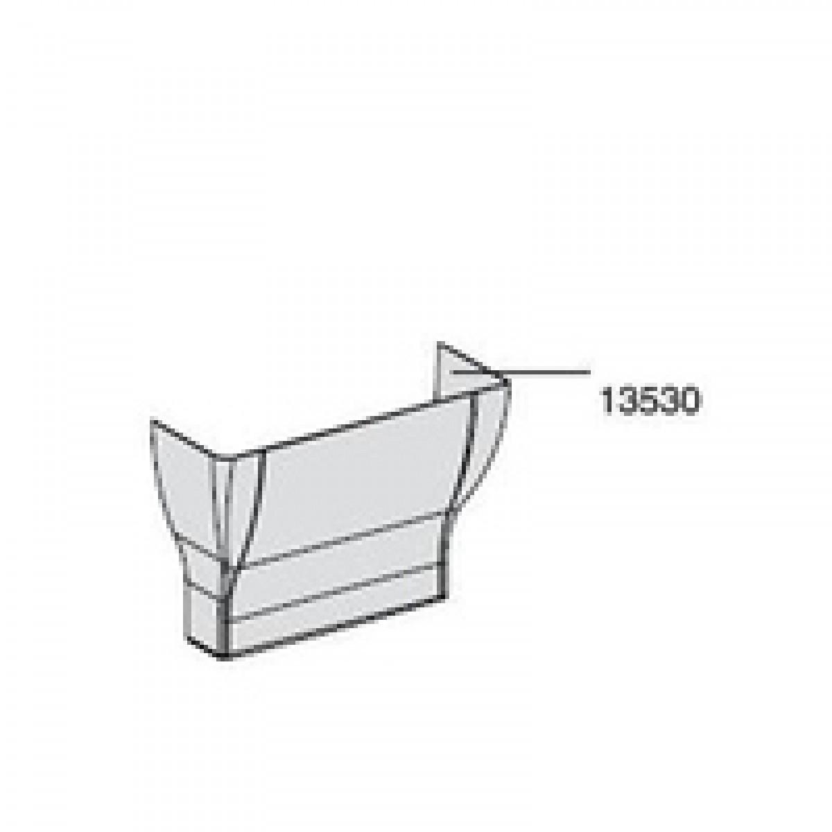 Goulotte Pour Plafond cornet d'epanouissement gtl jonction goulotte / plafond - 13530