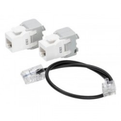 Kit d'extension 2 RJ45 pour coffret de communication Gewiss