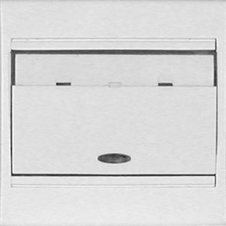 Poussoir lumineux porte etiquette blanc complet Eurohm pleiade