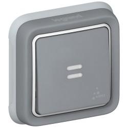 poussoir no nf prog plexo complet encastre gris 10 a