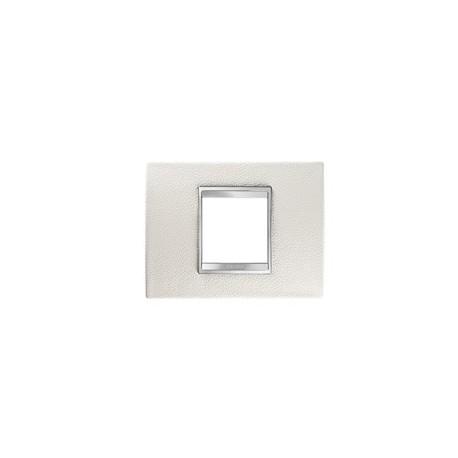 Plaque lux rectangulaire cuir blanc 2m Gewiss chorus