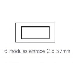 Plaque lux rectangulaire cuir blanc 6m Gewiss chorus