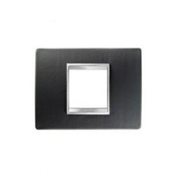 Plaque lux rectangulaire cuir noir 2m Gewiss chorus