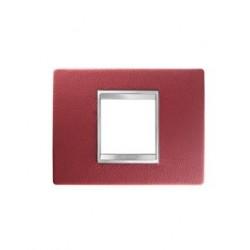 Plaque lux rectangulaire cuir rubis 2m Gewiss chorus