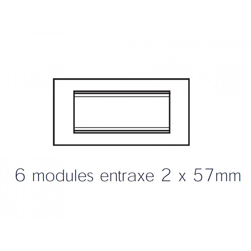 Gewiss plaque lux rectangulaire verre glace 6m gw16206cg for Glace rectangulaire