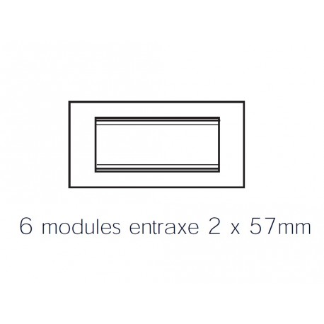 Plaque lux rectangulaire wengue 6m Gewiss chorus