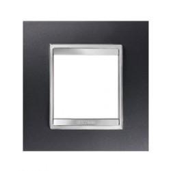 Plaque lux 2m aluminium noir Gewiss chorus