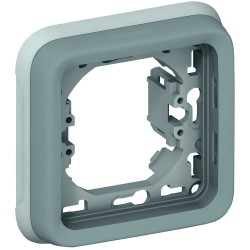 support plaque pour encastre prog plexo composable gris 1 poste