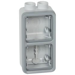 boitier presse etoupe prog plexo composable gris 2 postes verticaux iso 20