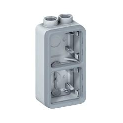 boitier presse etoupe prog plexo composable gris 2 postes verticaux pg 16