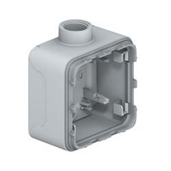boitier presse etoupe prog plexo composable gris 1 poste iso 20