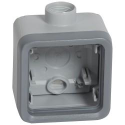 boitier presse etoupe prog plexo composable gris 1 poste pg 16