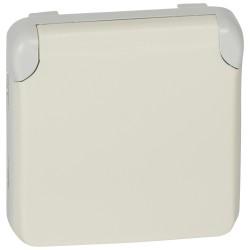 prise 2p t contact lateral de terre prog plexo composable blanc 16 a 250 v