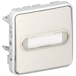 poussoir no lumineux porte etiquette prog plexo composable blanc 10 a