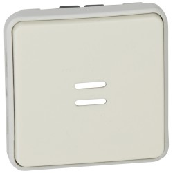 poussoir no lumineux prog plexo composable blanc 10 a
