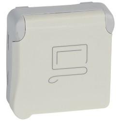 prise 2p t a detrompage prog plexo composable blanc 16 a 250 v