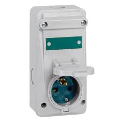 combine avec coupe circuit ml ip44 16 a 200 250 v 2p t plast