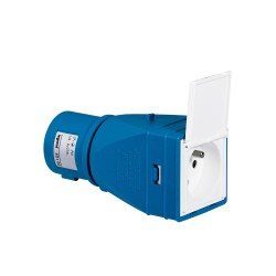 adaptateur industriel domestique 2p t 16 a livre monte avec volet