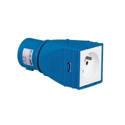 adaptateur industriel domestique 2p t 16 a livre monte