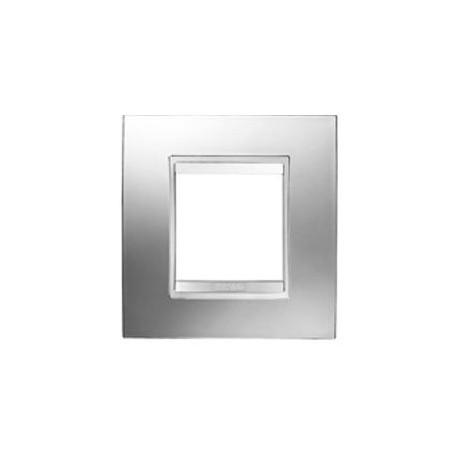 Plaque lux 2m chrome Gewiss chorus